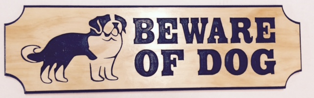 Beware of Dog St Benard