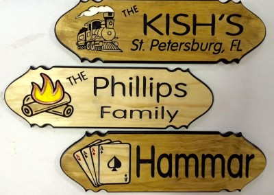 Hammar Kish Phillips Cards Train Campfire signs