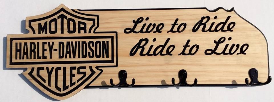Show Your Team Spirit Happy Signs More Extraordinary Harley Davidson Coat Rack
