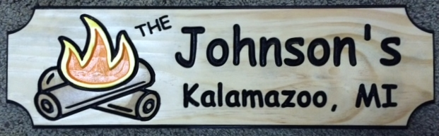 Johnsons Camping Sign
