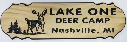 Lake One Deer Camp 6×24 Pine-x
