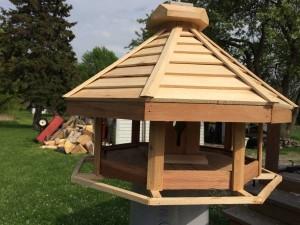 Octagon Bird Feeder - All Cedar - $175.