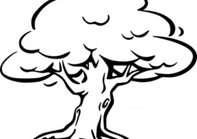 tree_outline_clip_art_11785
